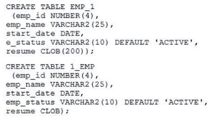 latest Oracle Database 1z0-061 dumps online practice test for free