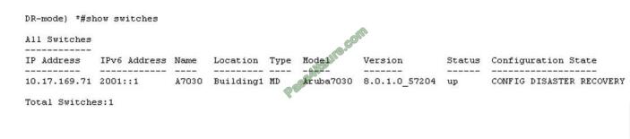 Ciscodemoguide HPE6-A71 exam questions-q7