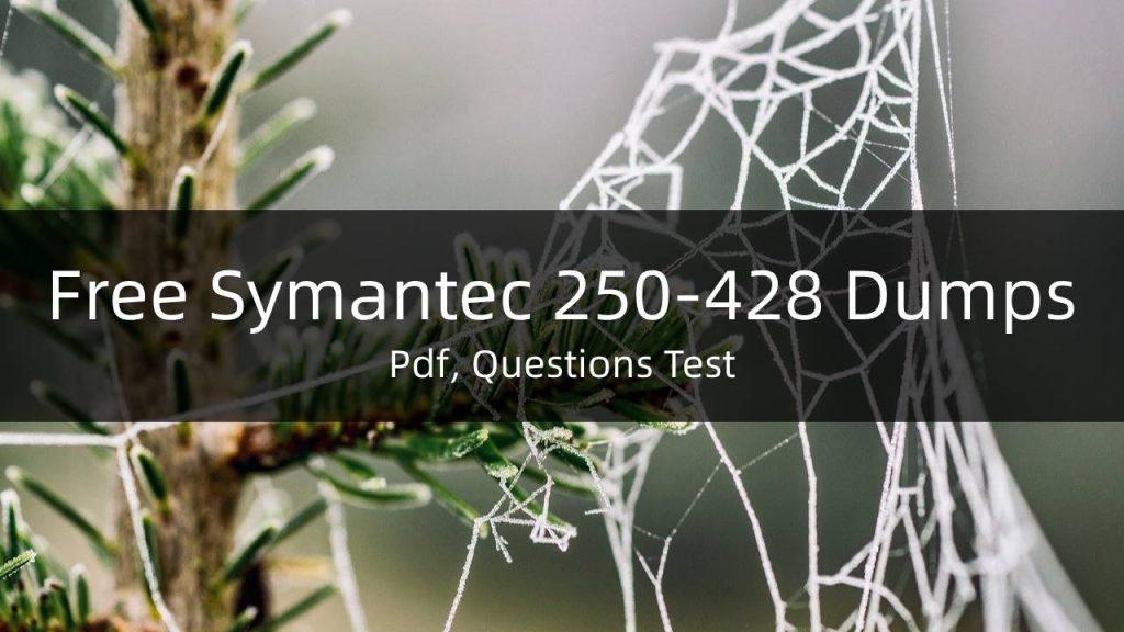 Free Symantec 250-428 Dumps