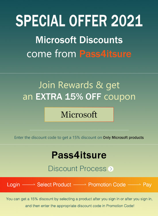 Pass4itsure Microsoft MS-700 dumps discount code 2021